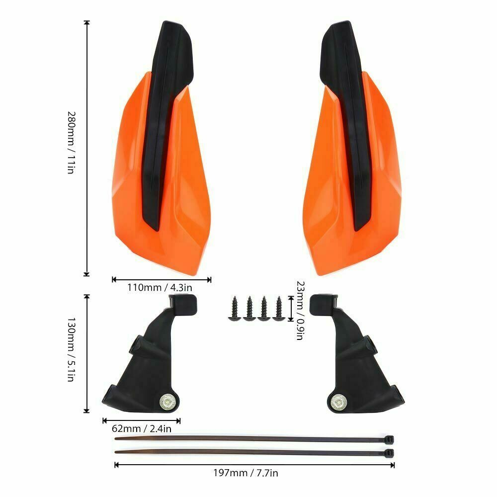 Image 3 - 2017 2020 Handlebar Handguards For KTM EXC F SX F SX 500 450 350 250 150 125 85 65 50 SXF EXCF Motorcycle Hand Guard Protector-in Covers & Ornamental Mouldings from Automobiles & Motorcycles