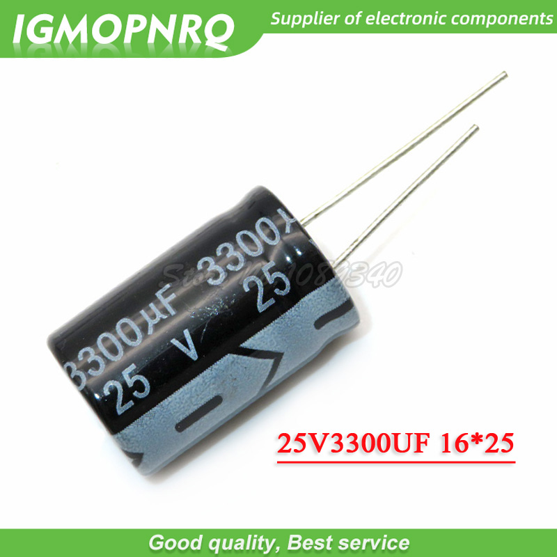 5PCS 25V3300UF 16*25mm <font><b>3300UF</b></font> <font><b>25V</b></font> 16*25 Aluminum electrolytic <font><b>capacitor</b></font> image