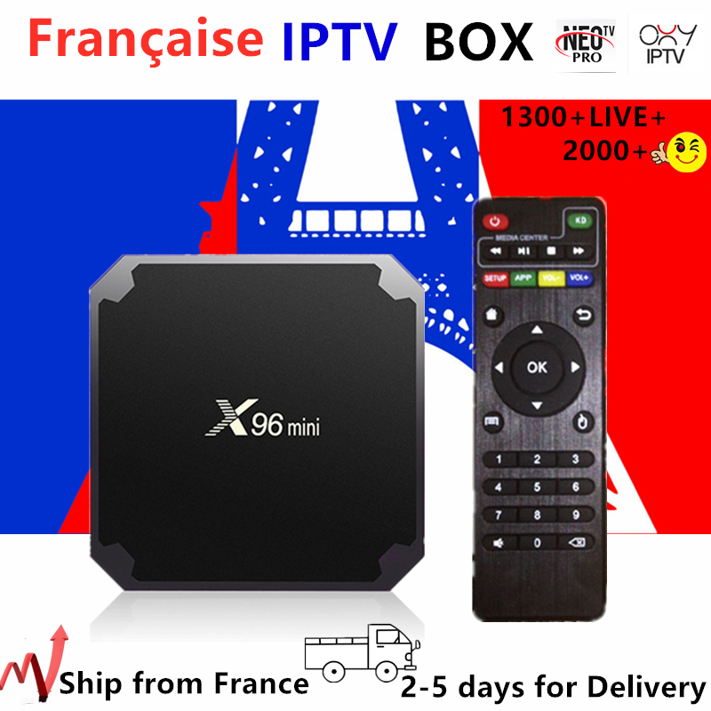 France IPTV X96 Mini Android Tv Box 1 Year Neo Tv Pro Subscription 1300+Live Europe French Belgium Arabic Iptv M3u Smart Tv Box