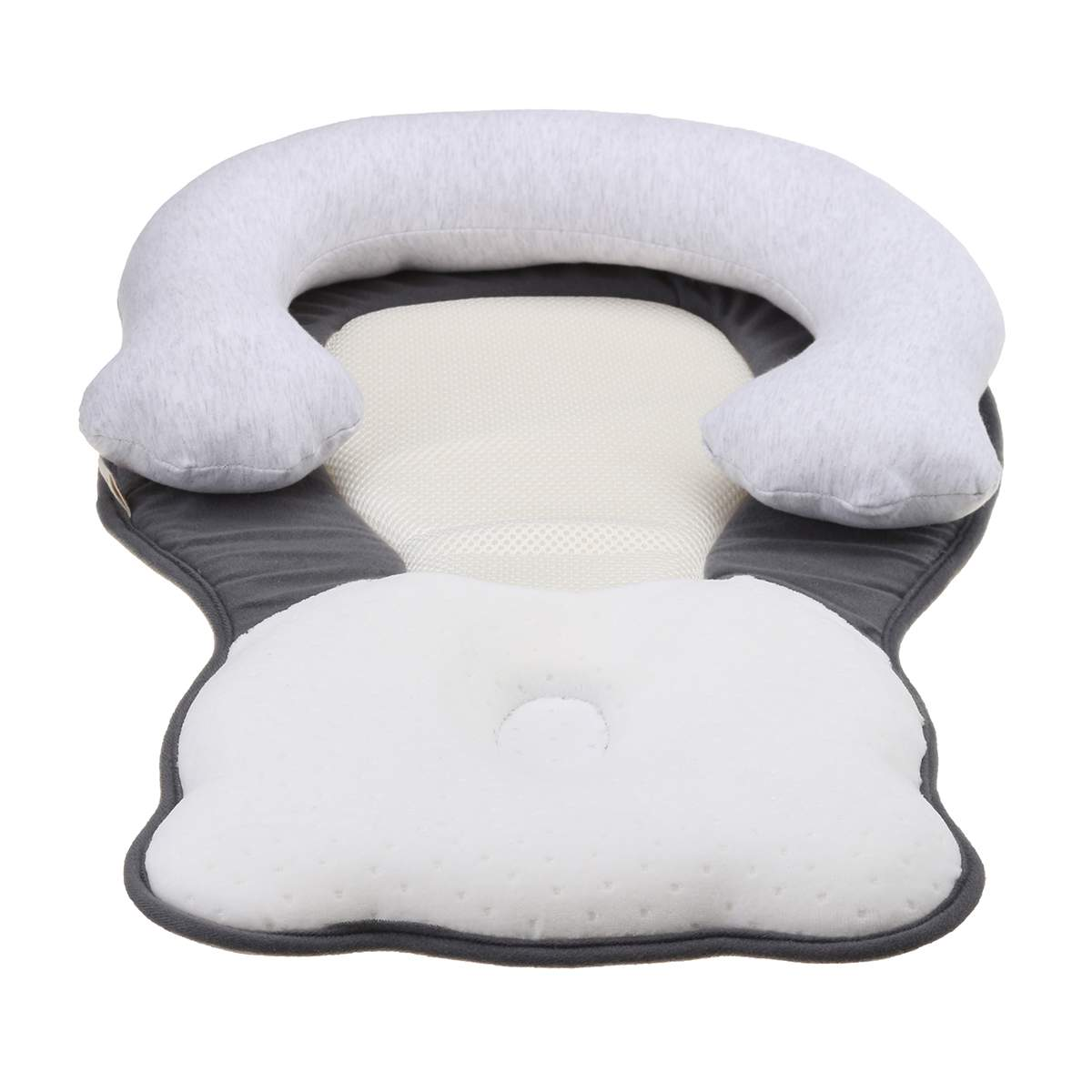 Infant Baby Anti-rollover Soft Cute Pillows Prevent Flat Head Pillow Position US