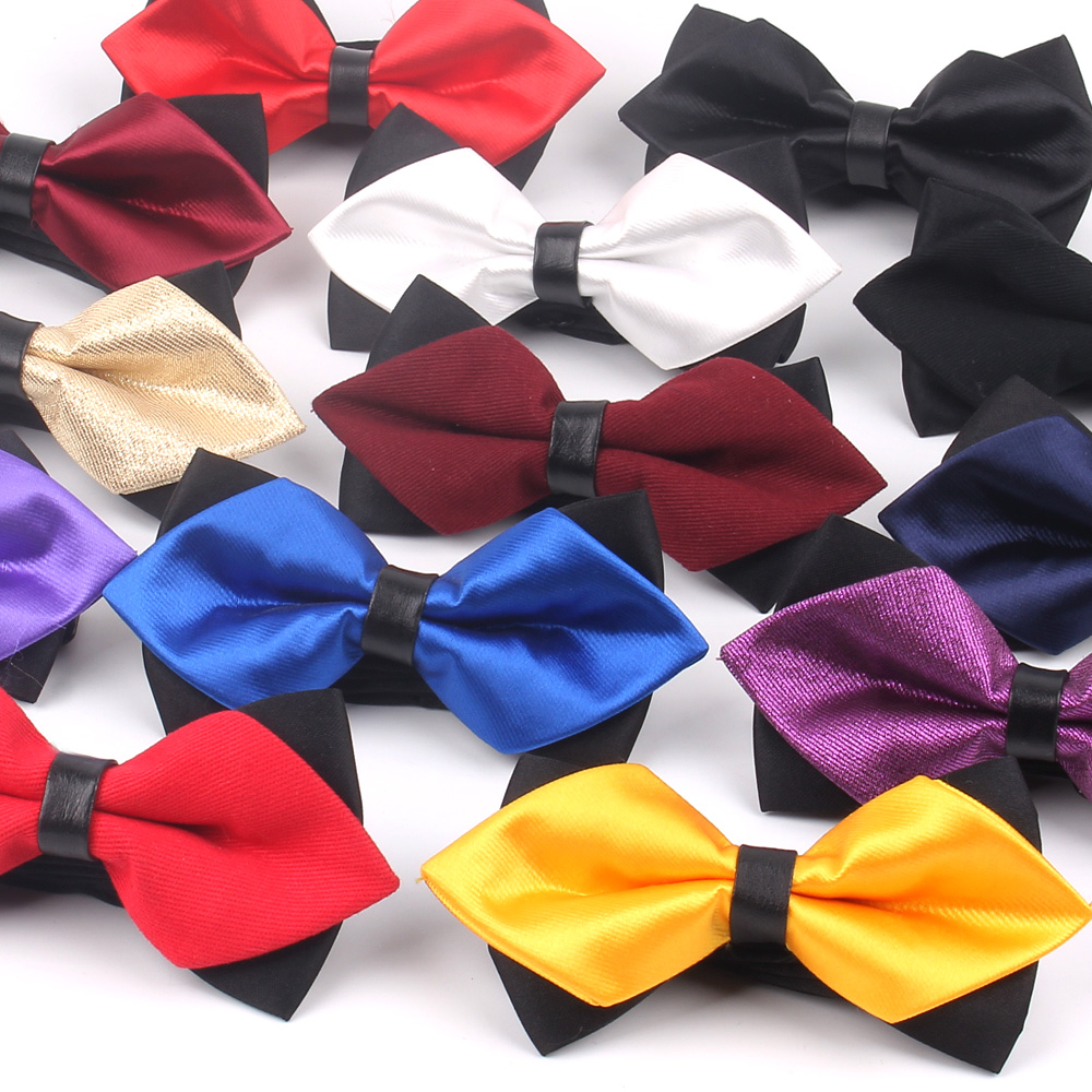 Pointed Bow Tie For Men Classic Solid Bowtie For Men Women Business Wedding Bowknot Adult Mens Bowties Cravats Yellow Red Tie