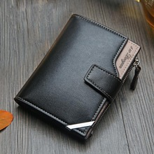 New Business men's wallet Short vertical Male Coin Purse casual multi-function c