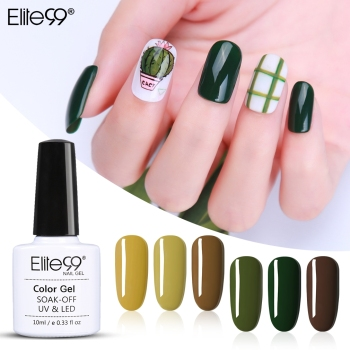 Elite99 Avocado UV Gel Nagellack Tränken Weg Frische Grün UV LED Lampe Nagel Gel Lack Primer Gel Polish Nagel kunst Maniküre 10ML
