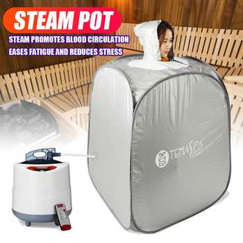 2L 220V 1000W Foldable Steam Tent Sauna Room Skin Spa Box Steam Generator Bath Bathroom Accessory for Sauna Loss Weight Slimming