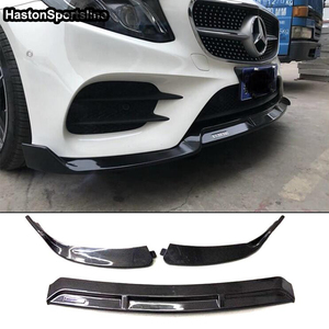 Image 5 - W205 B Style Carbon Fiber Body Kit Front lip for Mearcedes Benz W205 C205 S205 C180 C200 C300 C43 with Amg Sport Bumper 2019UP