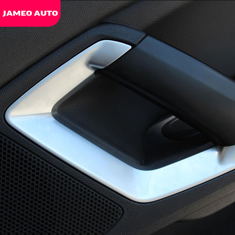 Car Inner Door Handle Cover Trim for <font><b>Peugeot</b></font> 308 308s <font><b>408</b></font> Accessories Inner <font><b>Armrest</b></font> Decorative Frame Car Styling image