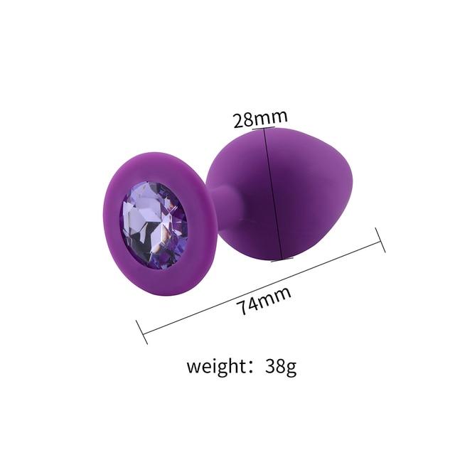 Size Light violet silicone diamond anal plug