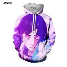 Liasoso свитер с капюшоном 3d ткани принтом; Унисекс; Аниме