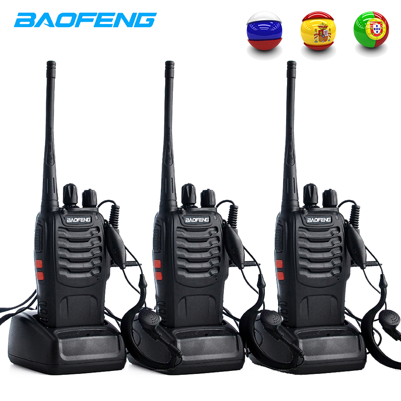 3PCS Baofeng BF 888S Two Way Radio BF 888S 6km Walkie Talkie 5W Portable CB Ham Radio Handheld HF Transceiver Interphone bf888S-in Walkie Talkie from Cellphones & Telecommunications