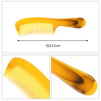 1 Pc Plastic Resin Fine Tooth Hair Comb Beef Tendon Comb With Handle Horn Comb Comb Hair Care Styling Tools Beauty Tools