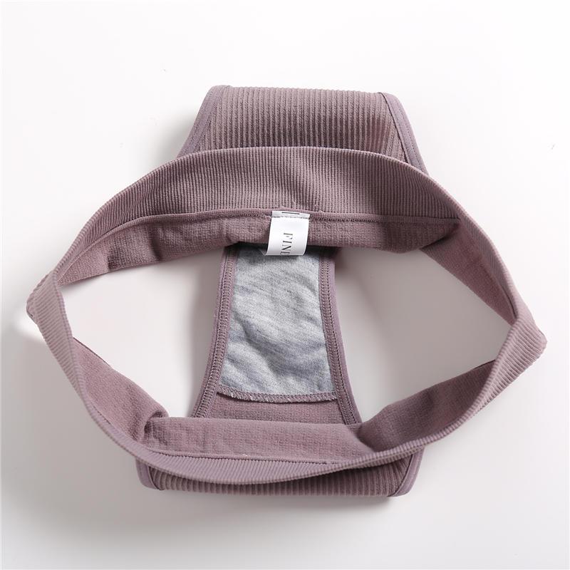 2PCS Bra Set Women Sexy Female Underwear Lingerie Ribbed Tops Girls Tank Crop Top - underwear