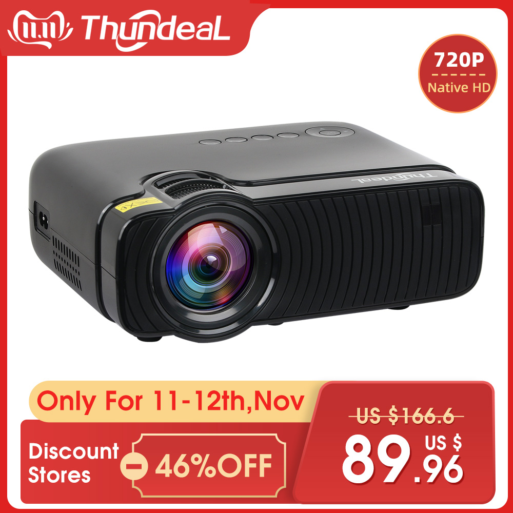 ThundeaL TD30 Max Projector 1280*720 Optional Android 6.0 WiFi Bluetooth HD Mini LED Projector 2400Lumens Video 3D HD Proyector