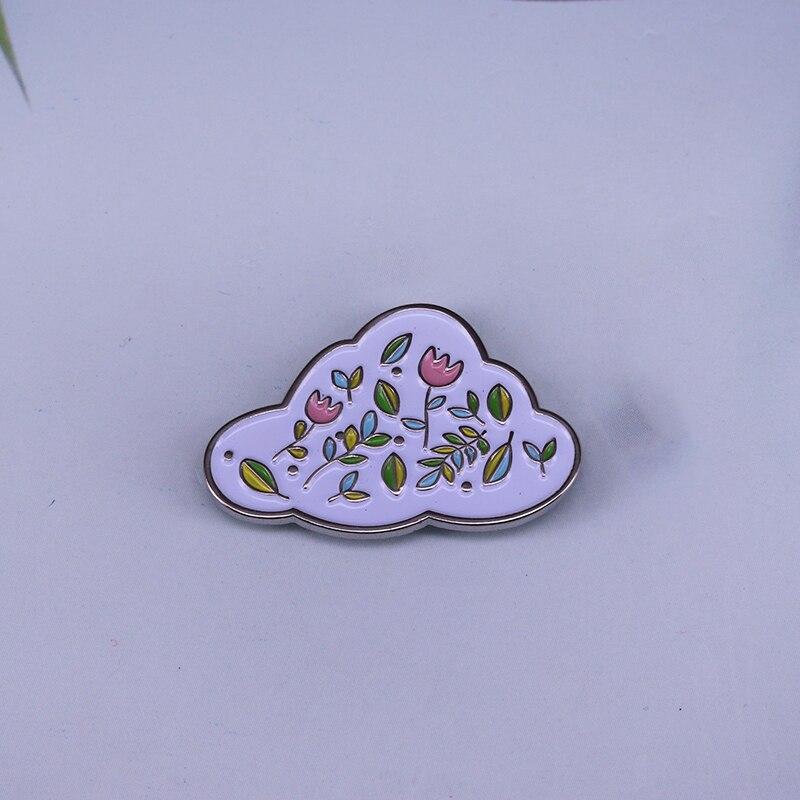 Sonho nuvem broche pino trazer uma pequena flor cheia de felicidade para o seu dia