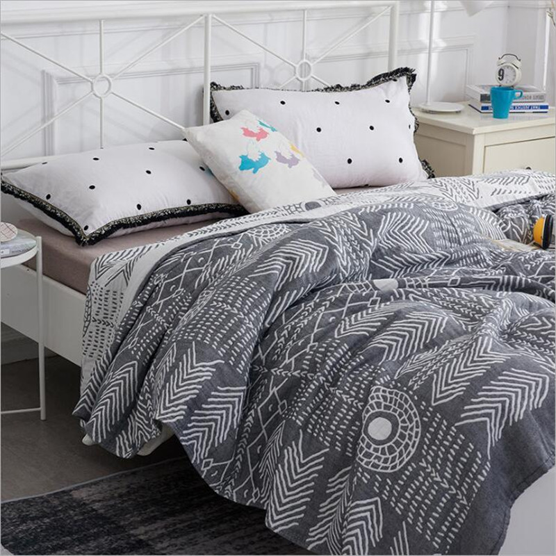 22 Styles 100% Cotton Muslin Bedding Sheet Queen King Travel Blanket For Bed Blanket Adult Bedspread Blanket Sofa Throw Blanket