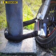 ETOOK-candado antirrobo para cadena de bicicleta, accesorio de seguridad con llaves, alargado