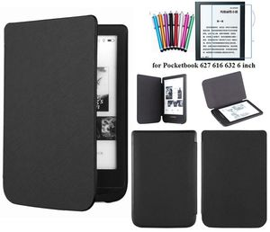 GLIGLE fashion slim case for Pocketbook 627 616 632 case cover for PocketBook Touch Lux 4/Basic Lux 2+stylus+screen film(China)