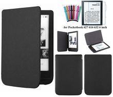 Google moda szczupła skrzynka dla Pocketbook 627 616 632 skrzynki pokrywa dla PocketBook dotykowy Lux 4 podstawowy Lux 2 + rysik + ekran film tanie tanio gligle Osłona skóra For Pocketbook 627 616 632 Stałe 16 8cm Na co dzień Odporność na spadek Ochrona przed kurzem 11 5cm