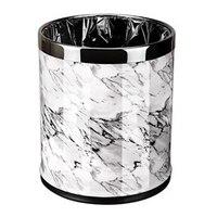 Marble Pattern 10L Trash Can Bin Buckets Diameter 23Cm Height 27Cm Waste Bins Living Room Bathroom Kitchen Dustbin Trash Bin|Waste Bins| |  -