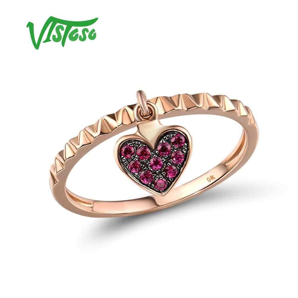 Anillo de mujer 375 Gold//Rosegold trébol anillo diamante brillante anillo de compromiso