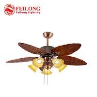 Потолочный вентилятор с большими лезвиями листьев с пятью комплектами светильников  потолочные вентиляторы для улицы  потолочные вентилят...