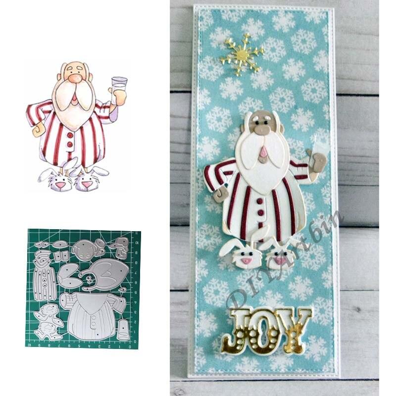 Рождественские туфли с Санта Клаусом и кроликом, трафареты для резки металла, для скрапбукинга, фотоальбома, декоративное тиснение, бумажны...
