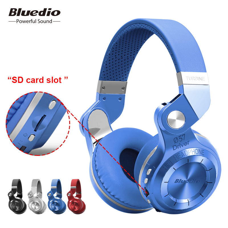 Original Bluedio T2+ Foldable Wireless Headset With Microphone Bluetooth Headphones Supports FM Radio And SD Card