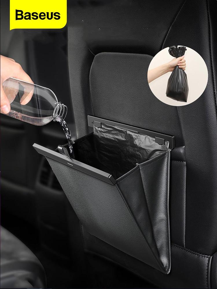 Baseus Storage-Bag Dustbin Car-Organizer Auto-Pocket-Holder Magnetic Backseat