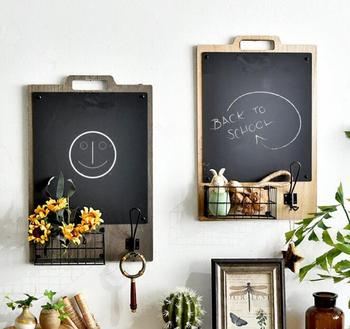 ins nordic wall storage flower basket retro blackboard wall hanging decoration creative wall decoration wall decoration message