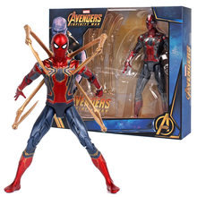 Hot Toys Marvel Avengers Infinito Guerra Ferro Aranha Spiderman Homem Aranha Figura de Ação PVC Figure Toy Collectible Modelo 17cm(China)