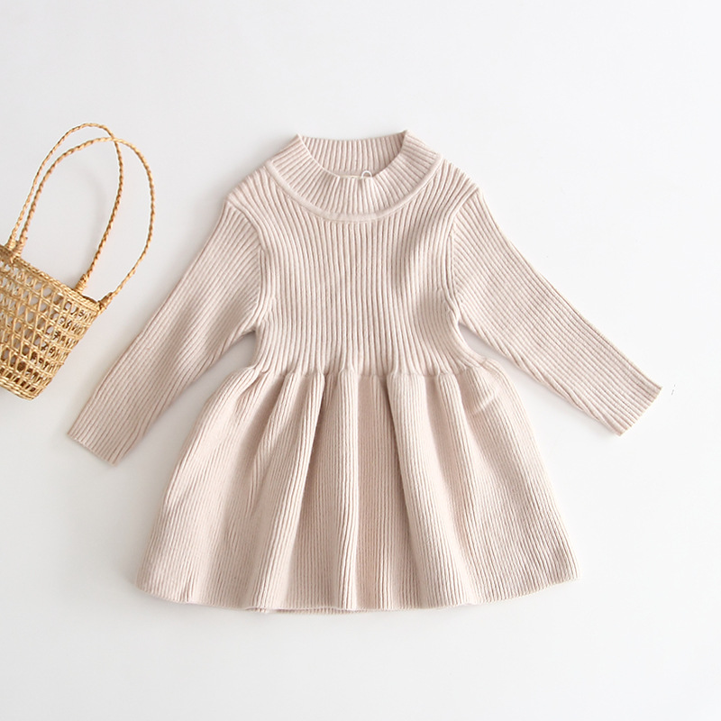 2020 Autumn Winter Girls Wool Knitted Sweater Baby Girl dress Girls Dresses For Party And Wedding Baby Girl Clothes 6
