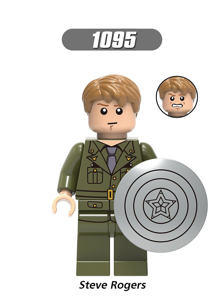 Single Sale Compatible Legoinglys Captain America Figure Enlighten Steve Rogers Avengers Building Blocks Toy Boy Gift Xh1095