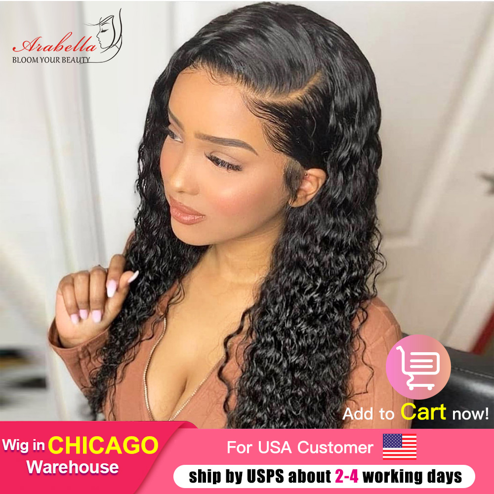 Water Wave Wig 4x4 Closure Wig With Baby Hair  PrePlucked 13x4 Lace Front Wig Arabella  Water Wave Lace Front Wig 2