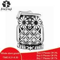 Jiayiqi 2019 Mode Silber 925 Schmuck Sterling Silber Bead Fit Charm Armband Halskette Für Frauen DIY Zubehör