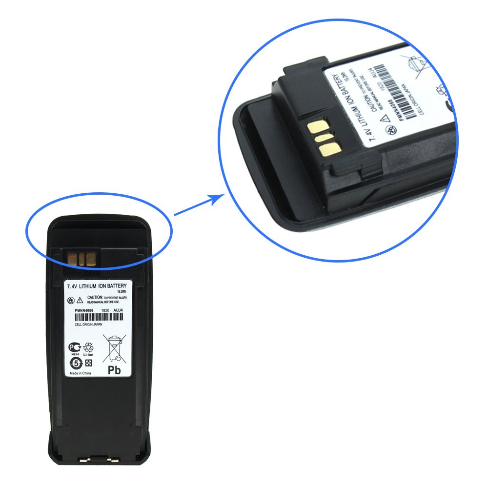 Replacement for Motorola MotoTRBO DP3400 Battery for Motorola PMNN4065 PMNN4066 PMNN4066A Two Way Radio Battery in Walkie Talkie Parts Accessories from Cellphones Telecommunications