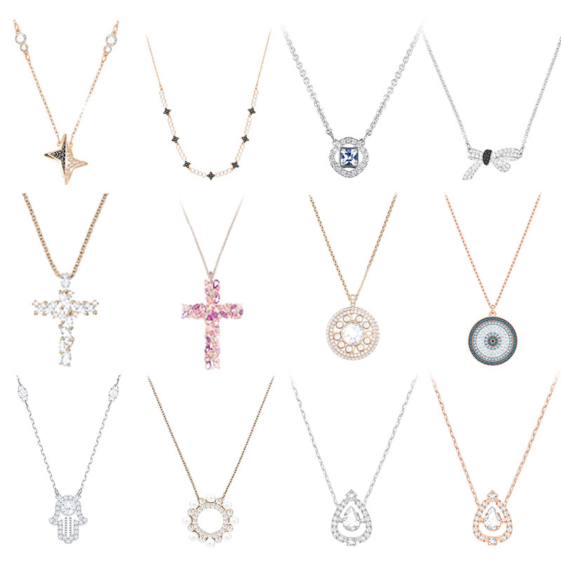 High-quality Swa Original Crystal Cross Drop-shaped Inlaid Gems Are Suitable For Women To Party.