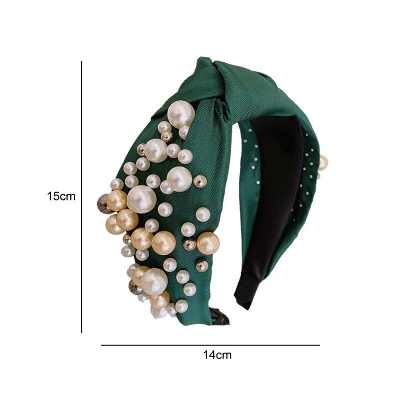 Горячая модная женская широкая боковая повязка на голову смешанные