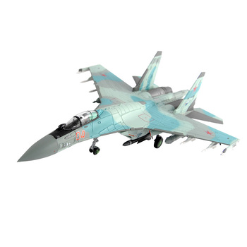 Military aircraft collection 1/100 Russian Air Force Su35 alloy fighter model ornament aircraft finished product Show model gift