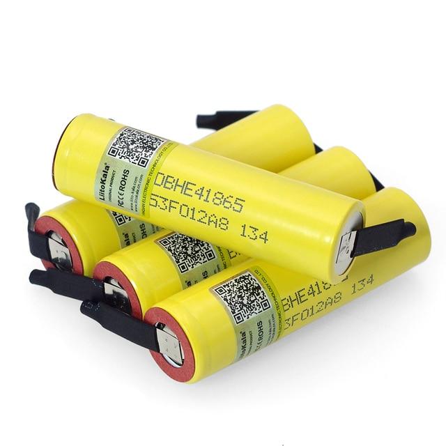 1-10PCS  Original 18650 he4 3,6 V Batterie 2500mAh 20A 35A hohe ablauf HE4 18650 he4 batterie power werkzeuge DIY Nickel