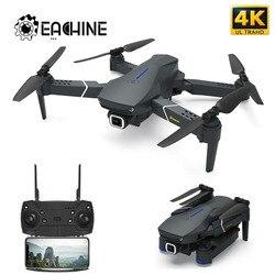 Eachine e520 wifi fpv zangão 4 k/1080 p hd câmera grande angular altitude hold dobrável aéreo vídeo quadcopter aeronaves atualizado e58