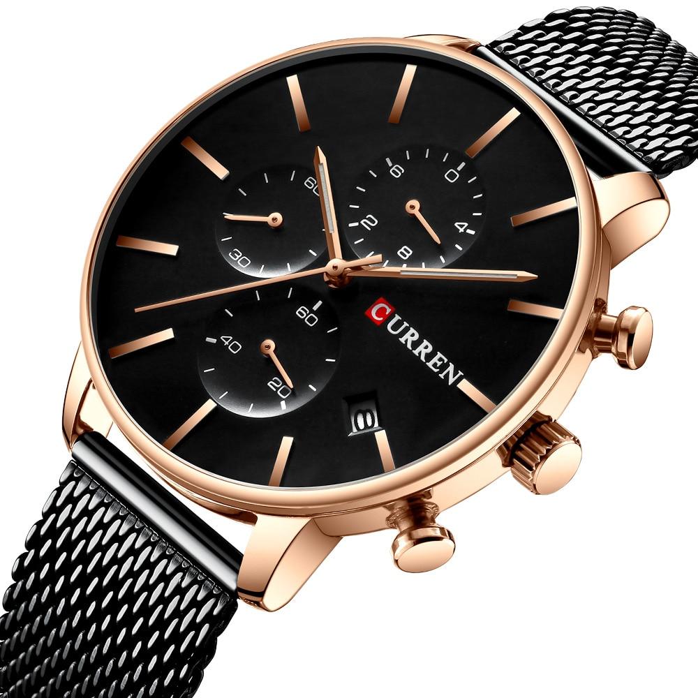 Clock Male CURREN Watches Stainless-Steel Sport Brand 8339 Quartz Masculino Men Men's
