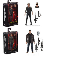 18cm NECA Terminator 2 T 800 Variant Figure Variable T 800 Garage Kit Dark Fate Sarah  Action Figures Collection Model Toy Doll