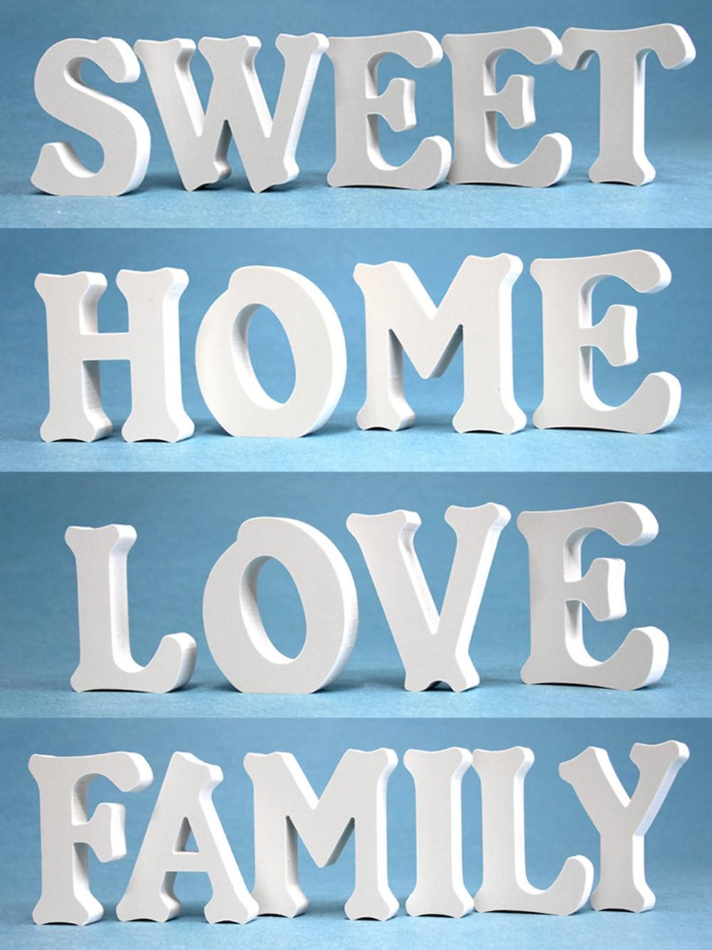 Креативный домашний интерьер с белыми буквами, свадебные украшения, подарки на день Святого Валентина и любовь