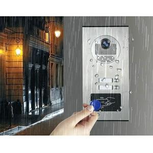 "Image 4 - 9 ""Pantalla de Color de Video Intercom sistema de teléfono de puerta 2 monitores 1 + RFID timbre Cámara 2 casa apartamento envío gratis"
