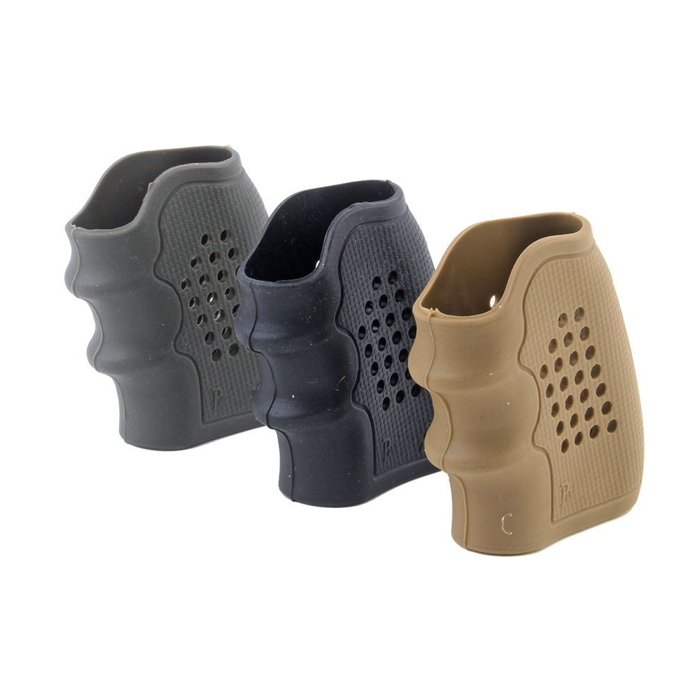 Pistol Rubber Grip Glove Cover Sleeve Anti Slip For Revolver Handguns Gel Blaster Airsoft Hunting Accessories Nylon Magazine