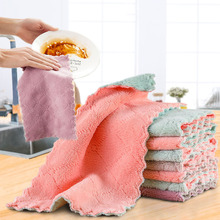 Super Absorbent Microfiber Kitchen Dish Cloth High-efficiency Tableware Cleaning Wiping Tools Gadget Cosina Rag