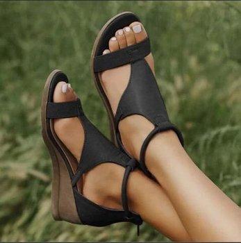 Temperament Wedge Women's Shoes Open Toe  1