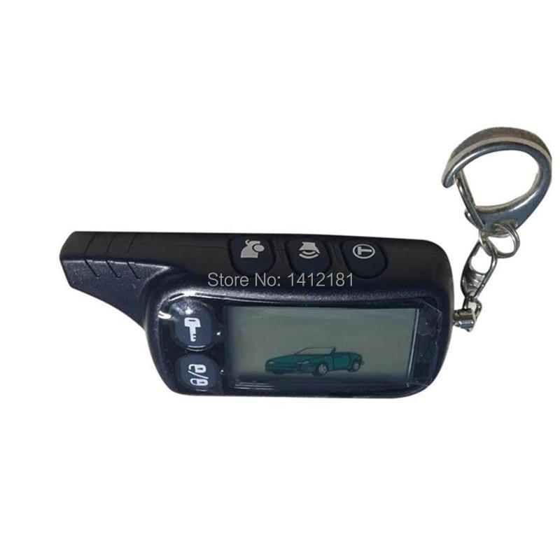 2-way TZ9010 LCD Remote Control Keychain,TZ-9010 Key Chain For Vehicle Security Two Way Car Alarm Tomahawk TZ 9010, 434MHz 1.5V