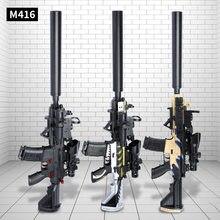 Pistolet à eau électrique manuel pour garçon, 2 Modes, jouet pour enfant, M416
