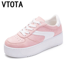 VTOTA Vulcanized Shoes Sneakers Ladies Lace Up Canvas Shoes Autumn Whi
