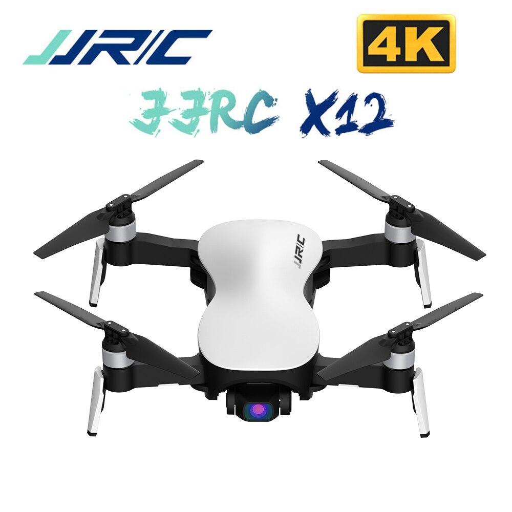 JJRC X12 Anti-secousse 3 axes cardan 4K moteur sans brosse RC Drone WIFI 1KM FPV HD caméra quadrirotor VS X8 RC hélicoptère Dron jouets